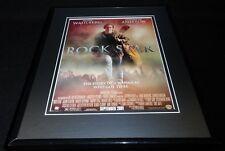 Rock Star 2001 Framed ORIGINAL Advertisement Mark Wahlberg Jennifer Aniston