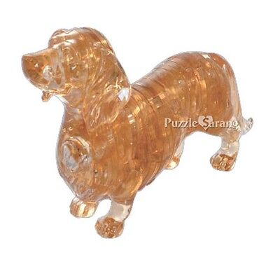 """3D Puzzle 41 Pieces """"Dachshund"""" / Crystal Puzzle"""