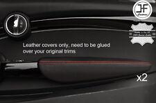Punto Rojo 2X Puerta Apoyabrazos Cuero Cubiertas Para BMW Mini Cooper 14-17 F56