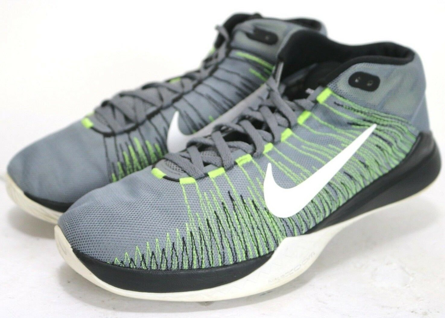 Nike Zoom Ascention  95 Men's Basketball shoes Size 13 Grey Green