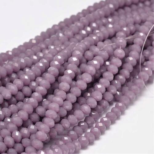 20 Jade Stein Perlen 6mm Violett Rondelle Halbedelstein Edelstein Strang G686