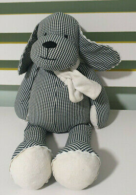 Pottery Barn Dog Black And White Stuffed Animal Beans In