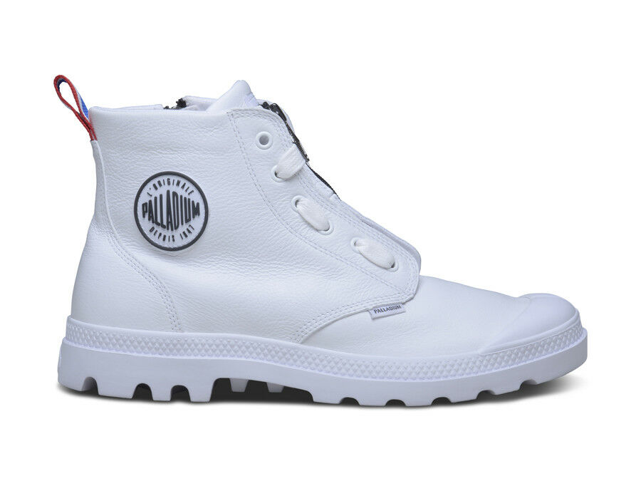 Palladium men Lea Zip long schuhe WEISS 03968-101 US7-11 04'