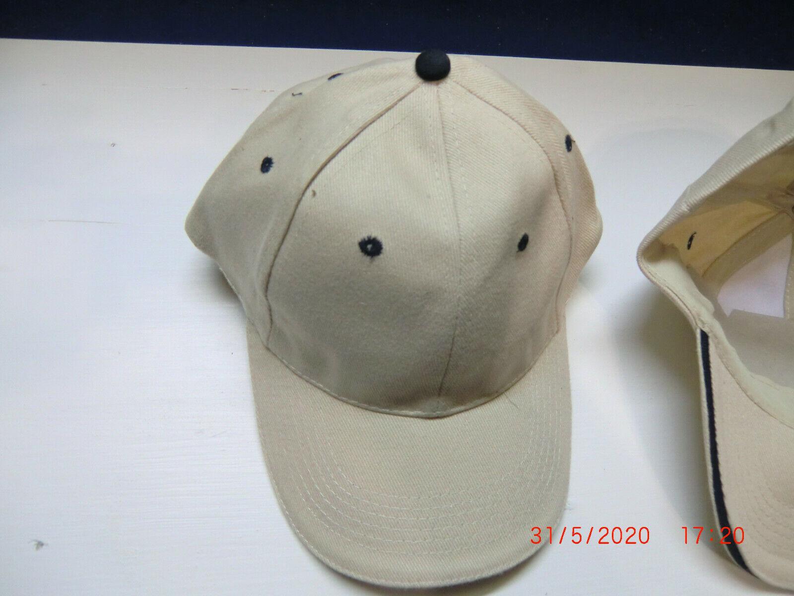 Basecap Kappe Schirmmütze Neu Baumwolle 3 Stück - Bestickbar