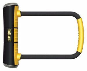 onguard bike d u lock pitbull std 8003 shackle lock gold sold secure scooter ebay. Black Bedroom Furniture Sets. Home Design Ideas