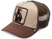 "Goorin Bros. Animal Farm Trucker Snapback Hat Cap Lone Star Tan/Brown/""Bear"""
