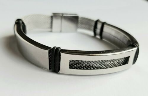 Stainless Steel mesh wrist band,3 sizes Mens hand made Bracelet,high quality