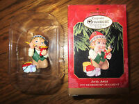 Hallmark Ornament Arctic Artist 1999 Elf Paints Soldier With Box