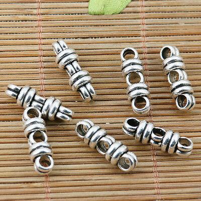 12pcs tibetan silver tone 3holes link connector design EF2209