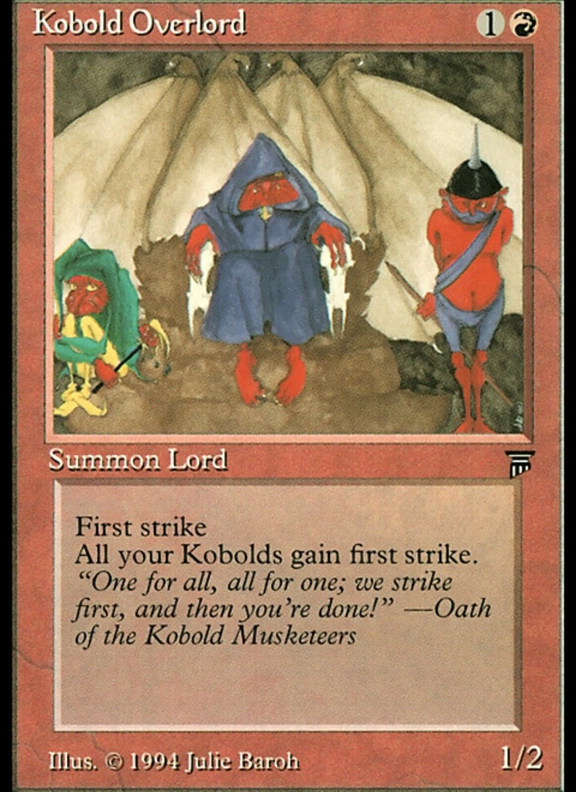 1 LP English Kobold Overlord MTG Legends