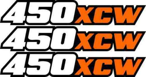 450xcw Swingarm Airbox Number Plate Decal Stickers 450 XCW 2 4 stroke dirtbike
