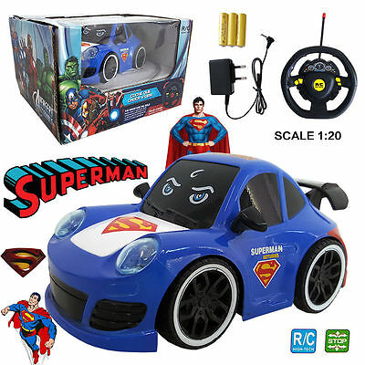 FäHig Superman For Tomorrow Man Of Steel Electric Rc Radio Remote Control Car Kids Toy Einfach Und Leicht Zu Handhaben