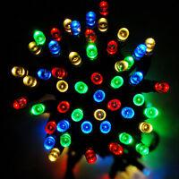 Solar Powered Fairy Lights 100/ 200 LED Garden Outdoor Auto On-OFF Wedding Party