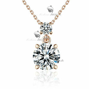 18k-rose-gold-made-with-SWAROVSKI-crystal-pendant-necklace-drop-classic-4ct