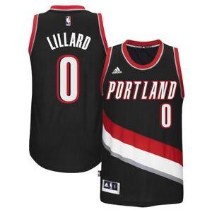 Details about Men's Portland Trail Blazers Damian Lillard adidas Black Replica Road Jersey