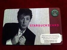 RARE Paul McCartney USA Starbucks Card 2007 Collectors Item Brand New - Unused