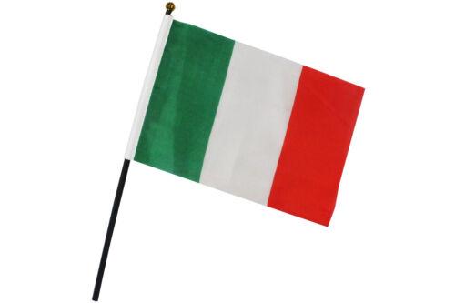 2er Set Fahne Flagge Italien  15 x 23 cm mit Plastikstab 0520104