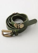 Nwt Anthropologie Linea Pelle Maya Hinged Hip Belt Sz S Green w Brass Hardware