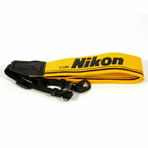 Vintage-Style-DSLR-Camera-Web-strap-for-Nikon-in-Yellow-amp-Black-UK-Stock-BNIP