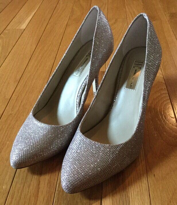 New NIB INC Zita Pumps Gold Shimmer High Heels Pumps Zita Shoes Dress Formal Size 8.5 M 3c5085