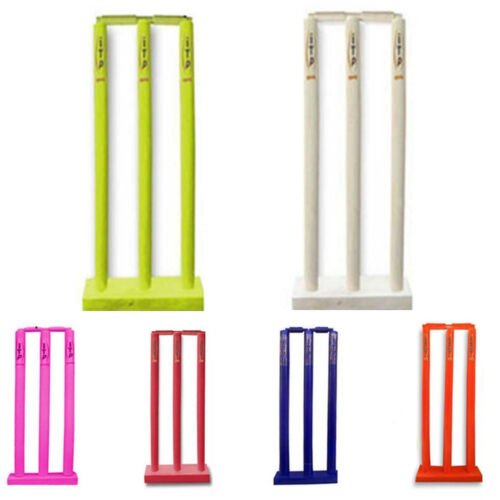 Kids Cricket Stumps /& Bails Cricket Wicket /& Stumps With Floor Base Age 3 to 11