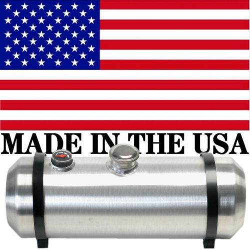 Trike Center Fill 10X26 Spun Aluminum Fuel Tank With Sight Gauge 8.8 Gallons