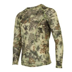 7b29194d9cc8 Military Camo Shirt Combat T Shirt Tee Long Sleeve Tight Crew-Neck T ...