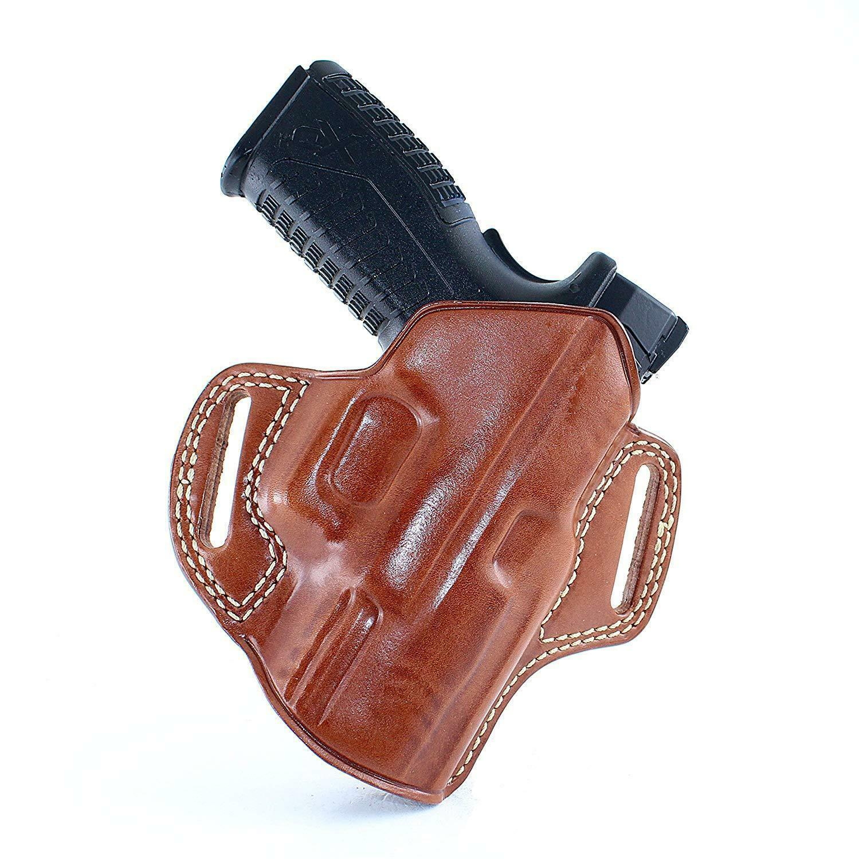 Funda de cuero panqueque parte superior abierta se ajusta, Beretta M9A1 9mm 4.9''BBL CON RAIL