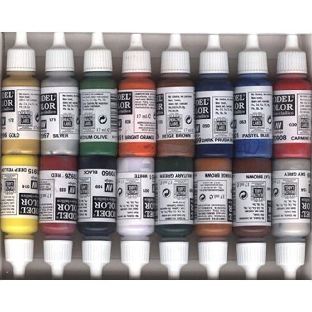 Av Vallejo Model color Set -folkstone Basics (x16) - Folkstone Paint Acrylic
