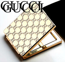 100%AUTHENTIC RARE GUCCI GOLD COUTURE BEAUTY~TOUCH UP~TRAVEL DOUBLE MIRROR BOXED