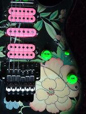 Vai Bright Green Slime knob set fits Ibanez Jem, Universe and RG guitars