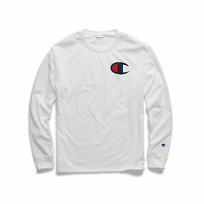 a21f4fb138a2 Champion Men's Classic Jersey Long-sleeve Tee Big C Logo Gt78h Y06591 for  sale online | eBay