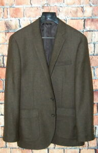 42-R-J-Crew-Ludlow-x-Moon-Fabrics-Forest-Green-Herringbone-Tweed-Slim-Fit-Blazer