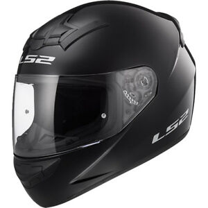 LS2-FF352-Rookie-Nero-Lucido-Integrale-Leggera-Moto-Casco-Antiurto