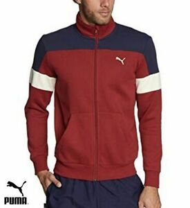d8a733845f Details about Retro Puma Track Top for Men in Maroon and Navy Sportswear  Casual Jacket New