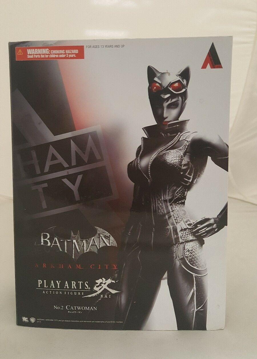 BATuomo ARKHAM città Play Arts Kai Catdonna azione cifra Nº 2NuovoEnix Square