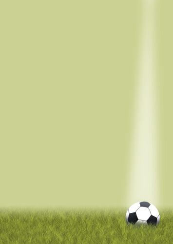 Motivpapier Briefpapier Fußball Ball Rasen Sport Fußballfans  20 Blatt DIN A4