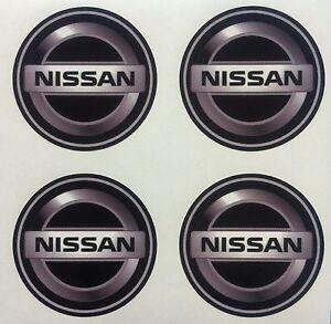 4x 65 mm fits NISSAN wheel STICKERS center badge centre trim cap hub alloy