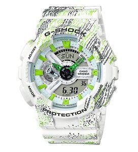 Casio G-Shock *GA110TX-7A Anadigi Graffiti White Gshock Watch COD PayPal