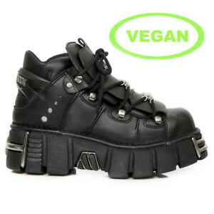 106 Boots Rock Vegan Black Vs1 Unisex New Metallic M Nr tvwqPf