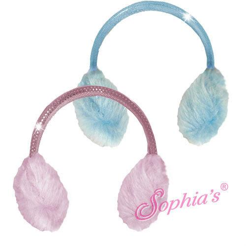 """15/"""" Doll Earmuffs Pink Blue fits 15/"""" Doll Earmuffs Blue Pink"""