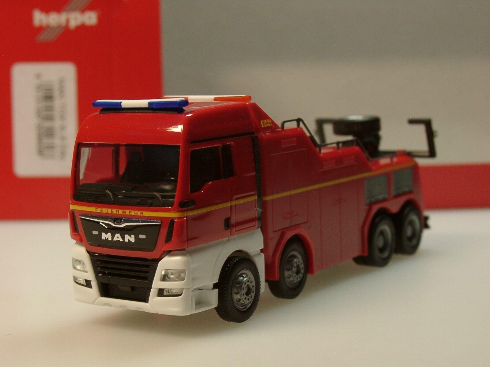 Herpa MAN TGX XLX euro 6c EMPL montagne veicolo  VIGILI DEL FUOCO  - 309608 - 1 87