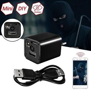 HD1080P Mini USB Wall Adapter US EU Plug AC Charger Spy Hidden Camera Nanny Cam