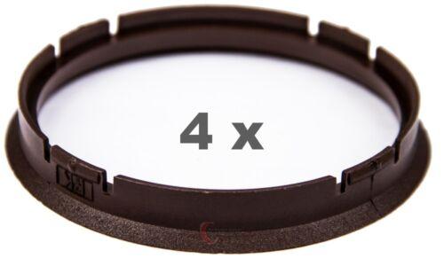 brown 4 Stück Zentrierringe 73.0 mm auf 66.6 mm braun