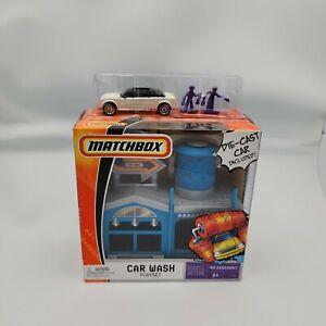 Matchbox Car Wash Playset Die Cast Car Figures NIP Mattel 2006 Gift Set