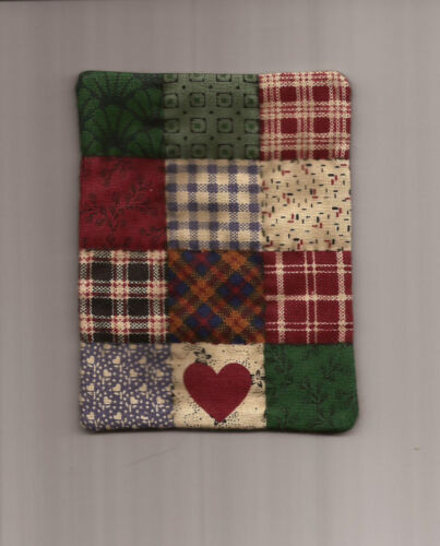 """Miniature 3/""""x4/"""" COUNTRY PATCH Dollhouse Mini QUILT #6024Mini Good for  OOAK Doll"""