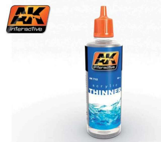 AK Interactive Acrylic Thinner 60ml Bottle -- Hobby and Model 712 8436535577120