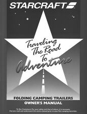 2002 Starcraft Folding Camping Popup Trailer Owners Manual