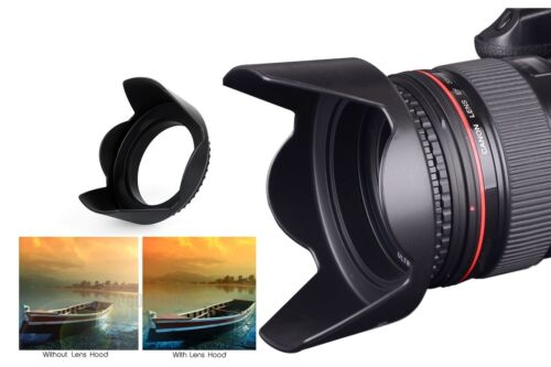 Pro Hard Lens Hood with Collar Clamp For Canon EOS M100 M6 M50