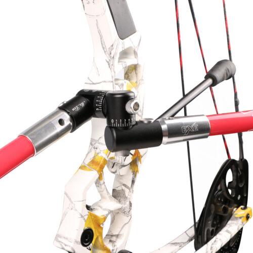Archery Single Side V-Bar Adjustable Quick Disconnect Mount Bow Rod Stabilizer Y